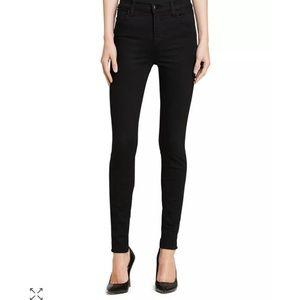 J Brand | Maria high rise black skinny jeans